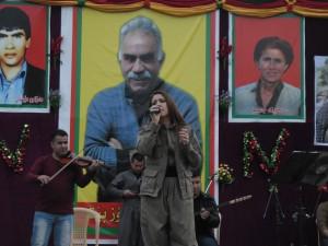 Chopy Fatah tijdens haar optreden. Foto door mij.