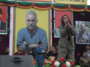 Chopy Fatah tijdens haar optreden. Foto door mij, klik om te vergroten.